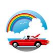 虹とドライブ