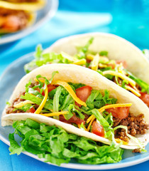 - Soft shell beef tacos
