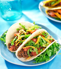 Mexican food - Soft shell beef tacos