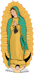 Virgen de Guadalupe color