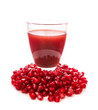 Seeds and juice of a pomegranate