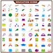 vector illustration of complete set of education icon