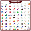 vector illustration of complete set of sports icon