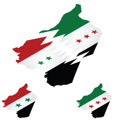 Syrian isometric flag maps