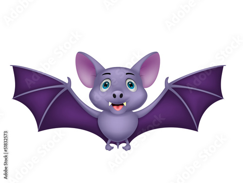 Bat cartoon flying