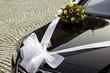 Geschmücktes Hochzeitsauto