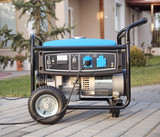 Portable electric generator.