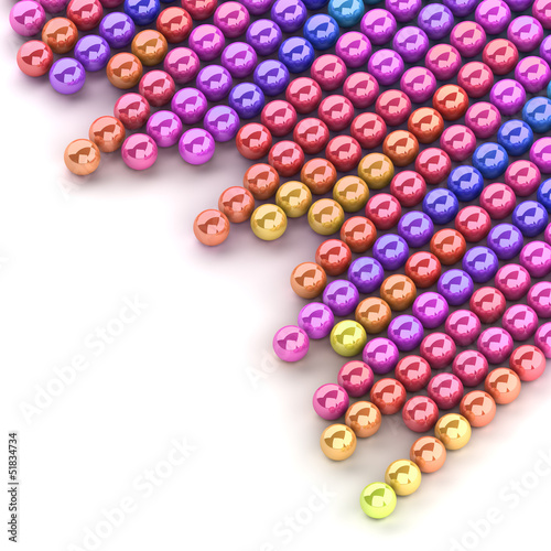 Colored spheres isolated