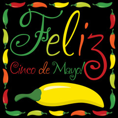 """Feliz Cinco de Mayo"" (Happy 5th of May) card"