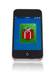 Smartphone mit Geschenk App
