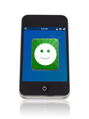 Smartphone mit Smiley App
