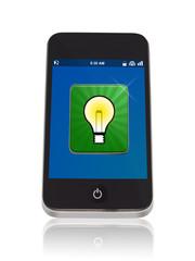 Smartphone mit Idee App