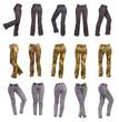 Stylish women's pants, collage
