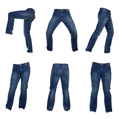 collage of men jeans