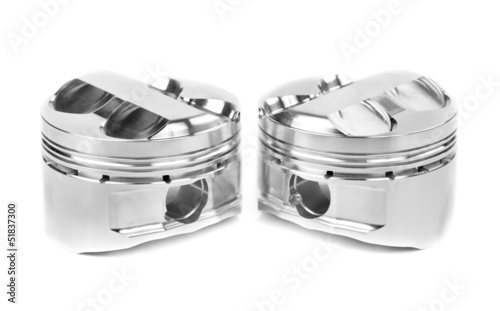 set of two polished forged pistons