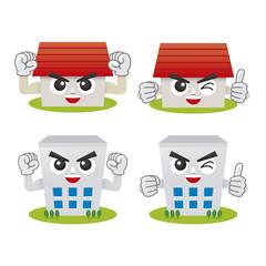 家とビルディングのキャラクター