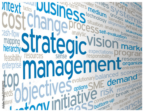 STRATEGIC MANAGEMENT Tag Cloud (leadership performance success)