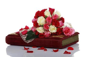 Album mit Rosen - album with roses