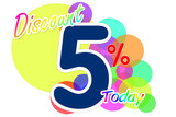 Label discount rates of 5 percent