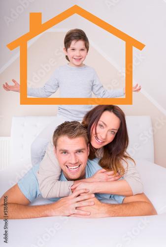 familie haus bett