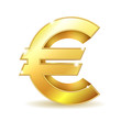 Gold sign euro currency.