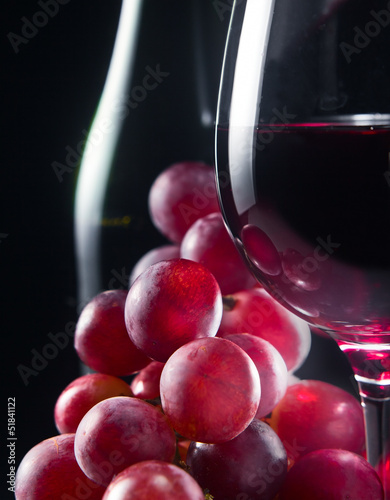 grape and glass with red wine © Igor Normann