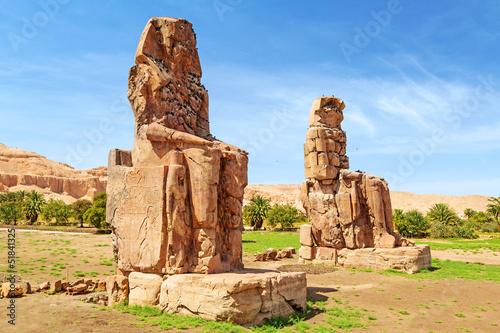 Papiers peints Egypte The Colossi of Memnon in Luxor, Egypt