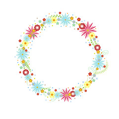 vector floral wreath