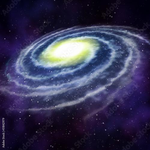 Leinwandbild Motiv Galaxie, Nebel und Sterne