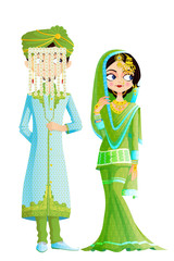 Muslim Wedding Couple