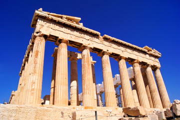 Iconic Athens landmark The Parthenon, Greece