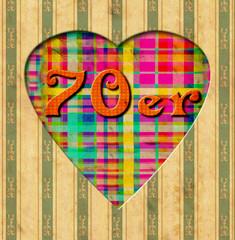 Vintage Heart - 70er