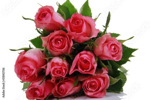 Rosa Rosenstrauß - rose bouquet