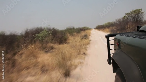 Truck ride across the steppe in Botswana