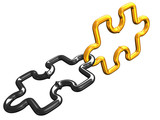 Two links of a chain puzzle