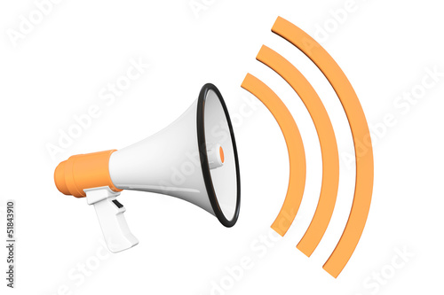Orange Retro megaphone