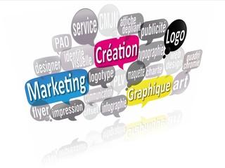 nuage de mots bulles 3d : création graphique logo