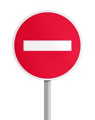 Panneau - sens interdit V2