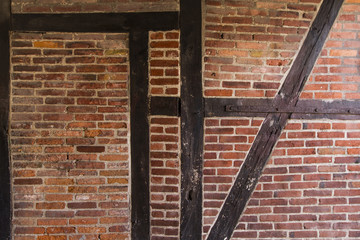 Brick Wall – Timber Framed