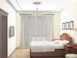 sketch 3D of an interior bedroom