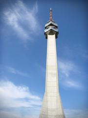 Famous Avala TV Tower near Belgrade in Serbia