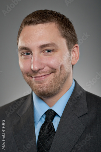 Caucasian Man Smiling Happiness Portrtait