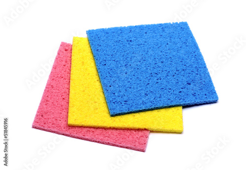 colorful sponge on white background