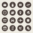 Airport and airlines services icons