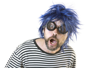 Bizarre Man Blue Hair