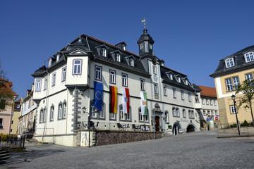 Rathaus von Ilmenau, Stadtverwaltung, Thüringen, am Marktplatz