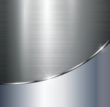 Metallic background polished steel texture