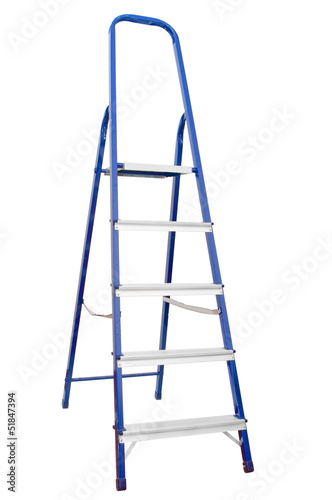 Stepladder on white background