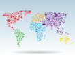 World map social media