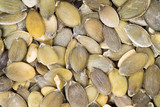 Background of peeled pumpkin seeds
